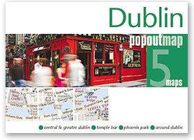DUBLIN mapa/ plan miasta PopOut Map