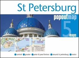 SANKT PETERSBURG mapa/ plan miasta PopOut Maps