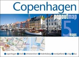 KOPENHAGA COPENHAGEN mapa/ plan miasta PopOut Maps