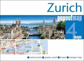 Zdjęcie przedstawia miasto Zurich uchwycone z wysokości.