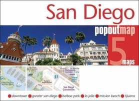 SAN DIEGO mapa/ plan miasta PopOut Maps
