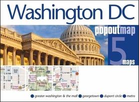 WASZYNGTON WASHINGTON DC mapa/ plan miasta PopOut Maps