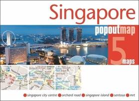 Zdjęcie przedstawia Singapur z lotu ptaka.