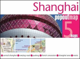 SZANGHAJ SHANGHAI mapa/ plan miasta PopOut Maps