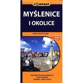 MYŚLENICE I OKOLICE mapa turystyczna 1:40 000 COMPASS