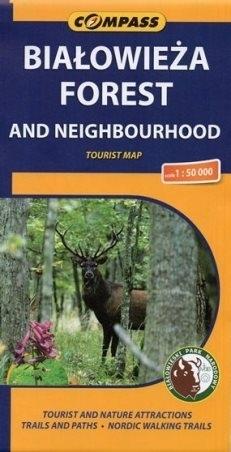 BIAŁOWIEŻA FOREST mapa turystyczna 1:50 000 COMPASS 2014