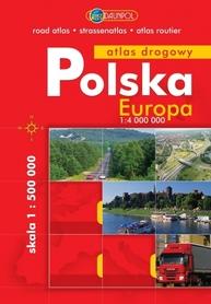 POLSKA atlas drogowy 1:500 000 DAUNPOL