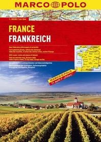 FRANCJA atlas samochodowy 1:300 000 MARCO POLO