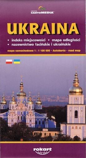 UKRAINA mapa samochodowa 1:1 100 000 CartoMedia
