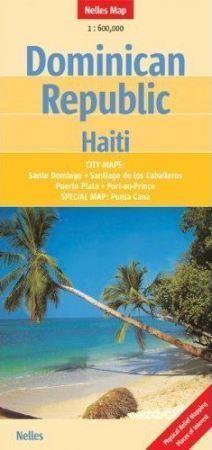 DOMINIKANA HAITI mapa samochodowa 1:600 000 NELLES