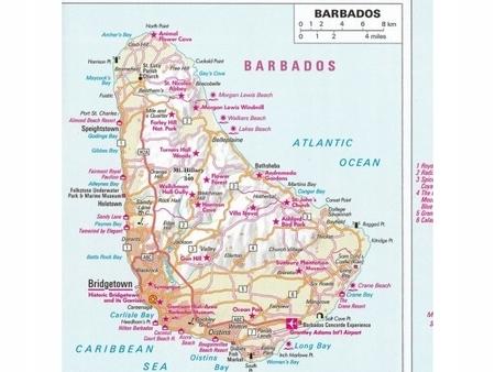 Karaiby Male Antyle Mapa Samochodowa 1 775 000 Nelles