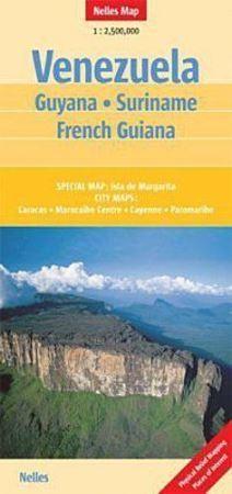 WENEZUELA GUJANA SURINAME mapa samochodowa 1:2 500 000 NELLES