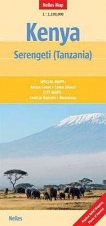 KENIA SERENGETI mapa samochodowa 1:1 100 000 NELLES