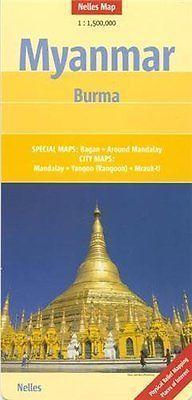 BIRMA MYANMAR mapa samochodowa 1:1 500 000 NELLES