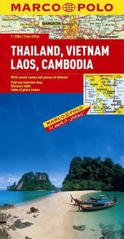 TAJLANDIA WIETNAM LAOS KAMBODŻA mapa samochodowa 1:2 000 000 MARCO POLO