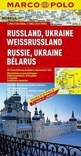 ROSJA, UKRAINA, BIAŁORUŚ mapa samochodowa 1:2 000 000 MARCO POLO