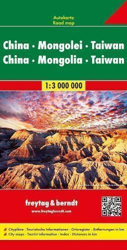 CHINY MONGOLIA TAIWAN mapa samochodowa 1:3 000 000 Freytag & Berndt