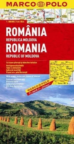 RUMUNIA I REPUBLIKA MOŁDAWII mapa samochodowa 1:800 000 MARCO POLO