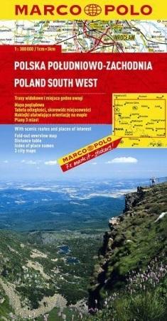 POLSKA POŁUDNIOWO-ZACHODNIA mapa samochodowa 1:300 000 MARCO POLO