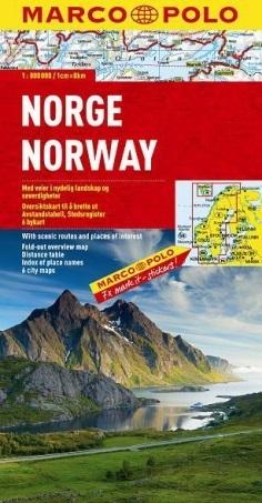 NORWEGIA NORWAY mapa samochodowa 1:800 000 MARCO POLO