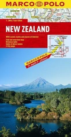 NOWA ZELANDIA mapa samochodowa 1:2 000 000 MARCO POLO