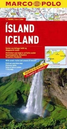 ISLANDIA ICELAND mapa samochodowa 1:750 000 MARCO POLO