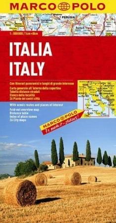 WŁOCHY ITALY mapa samochodowa 1:800 000 MARCO POLO