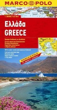 GRECJA GREECE mapa samochodowa 1:800 000 MARCO POLO