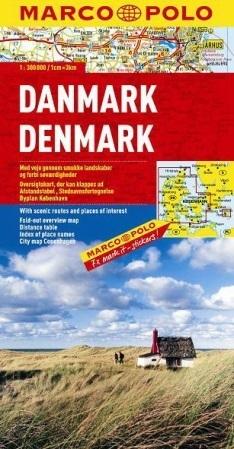 DANIA DENMARK  mapa samochodowa 1:300 000 MARCO POLO
