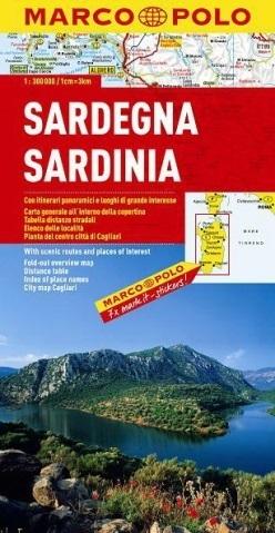 SARDYNIA mapa samochodowa 1:200 000 MARCO POLO