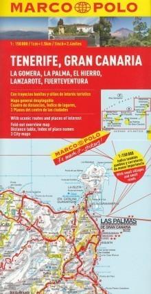 WYSPY KANARYJSKIE mapa samochodowa 1:150 000 MARCO POLO