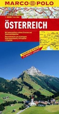 AUSTRIA mapa samochodowa 1:300 000 MARCO POLO