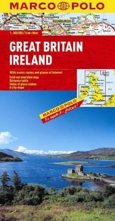 WIELKA BRYTANIA IRLANDIA mapa samochodowa 1:800 000 MARCO POLO