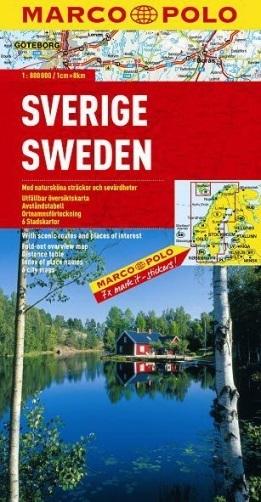 SZWECJA SWEDEN mapa samochodowa 1:800 000 MARCO POLO