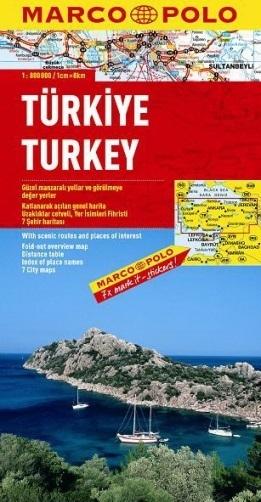 TURCJA TURKEY mapa samochodowa 1:800 000 MARCO POLO