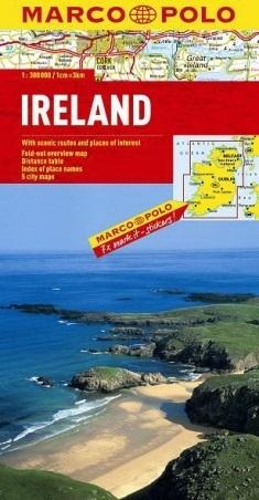 IRLANDIA mapa samochodowa 1:300 000 MARCO POLO