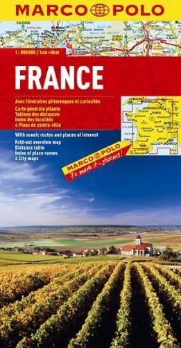 FRANCJA mapa samochodowa 1:800 000 MARCO POLO