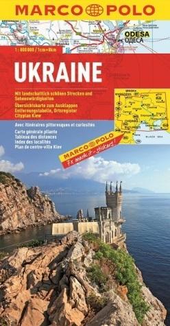 UKRAINA mapa samochodowa 1:800 000 MARCO POLO