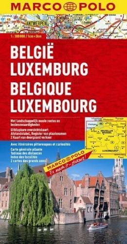 BELGIA LUKSEMBURG mapa samochodowa 1:300 000 MARCO POLO