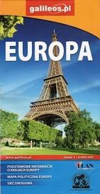 EUROPA mapa drogowa 1:6 000 000 PLAN