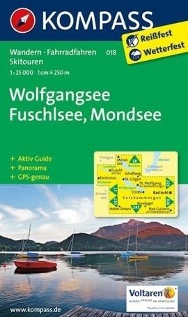 WOLFGANGSEE mapa turystyczna 1:25 000 KOMPASS