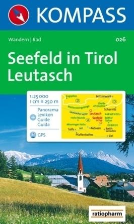 SEEFELD IN TIROL wodoodporna mapa turystyczna 1:25 000 KOMPASS