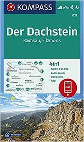 DACHSTEIN 031 wodoodporna mapa turystyczna 1:25 000 KOMPASS
