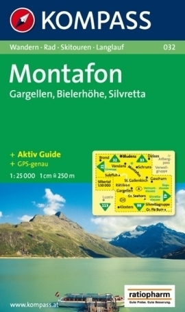MONTAFON mapa turystyczna 1:25 000 KOMPASS