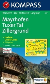 MAYRHOFEN mapa turystyczna 1:25 000 KOMPASS