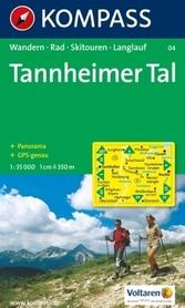 TANNHEIMER TAL mapa turystyczna 1:35 000 KOMPASS
