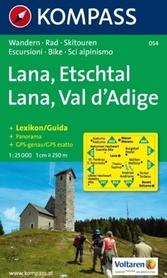 LANA - ETSCHTAL mapa turystyczna 1:25 000 KOMPASS
