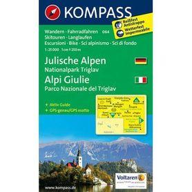 ALPY JULIJSKIE wodoodporna mapa turystyczna 1:25 000 KOMPASS