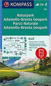 ADAMELLO - BRENTA NP 070 mapa turystyczna 1:40 000 KOMPASS 2018