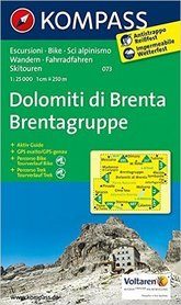 DOLOMITY BRENTY wodoodporna mapa turystyczna 1:25 000 KOMPASS